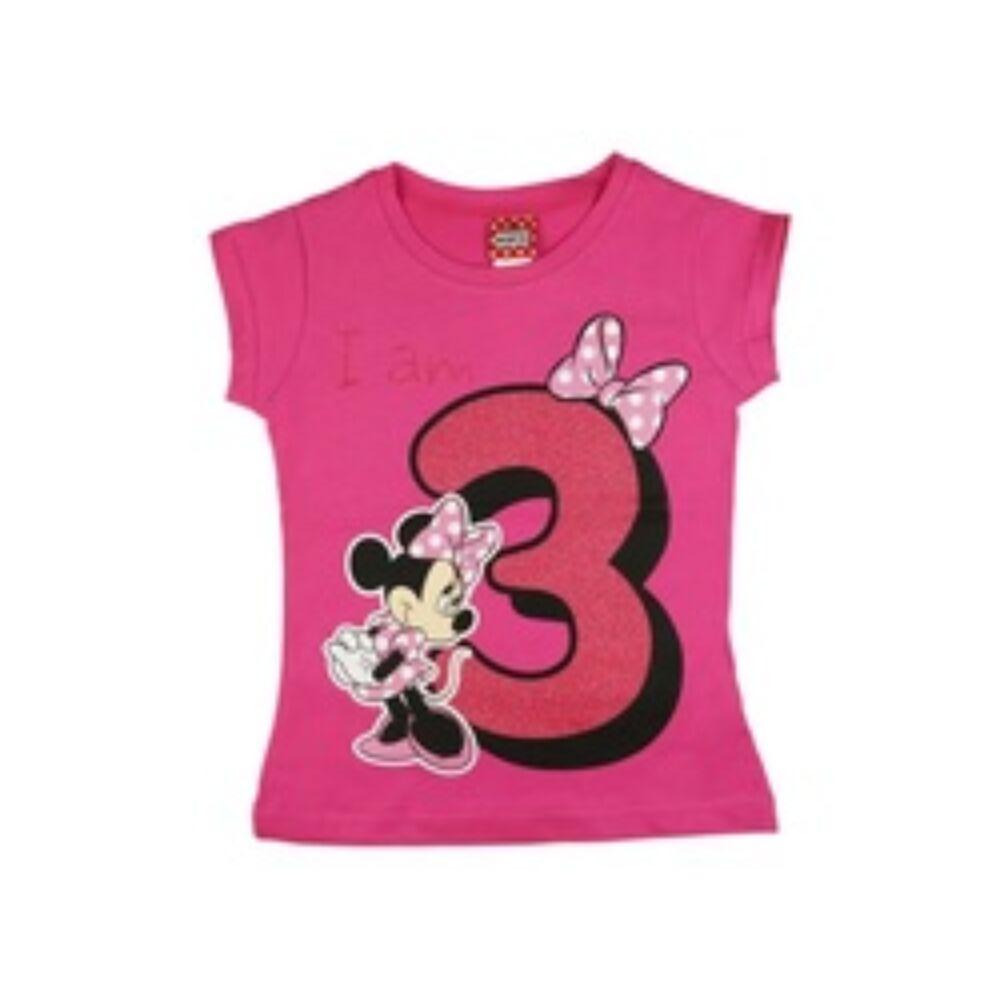 Minnie szülinapos 3 éves lettem póló rózsaszín közeli