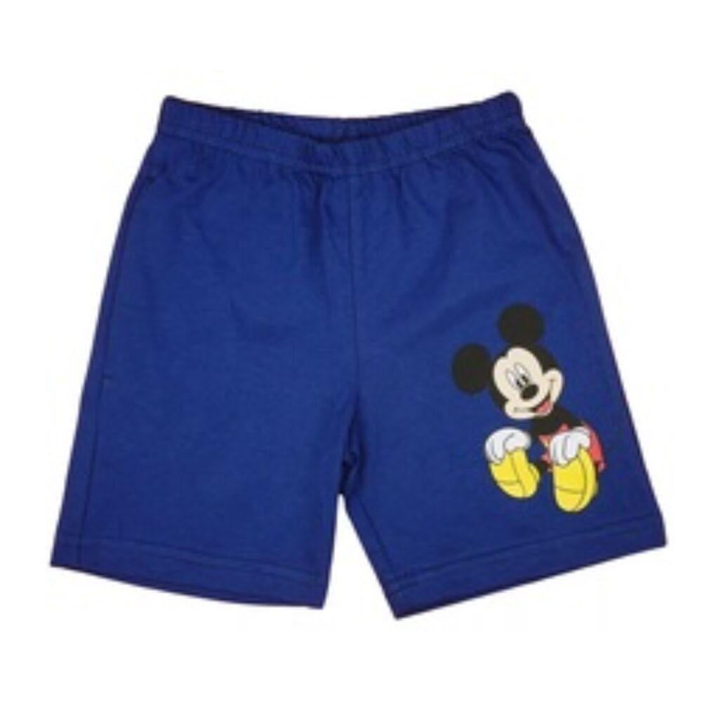 Disney kisfiú rövidnadrág kék elején Mickey nyomott minta
