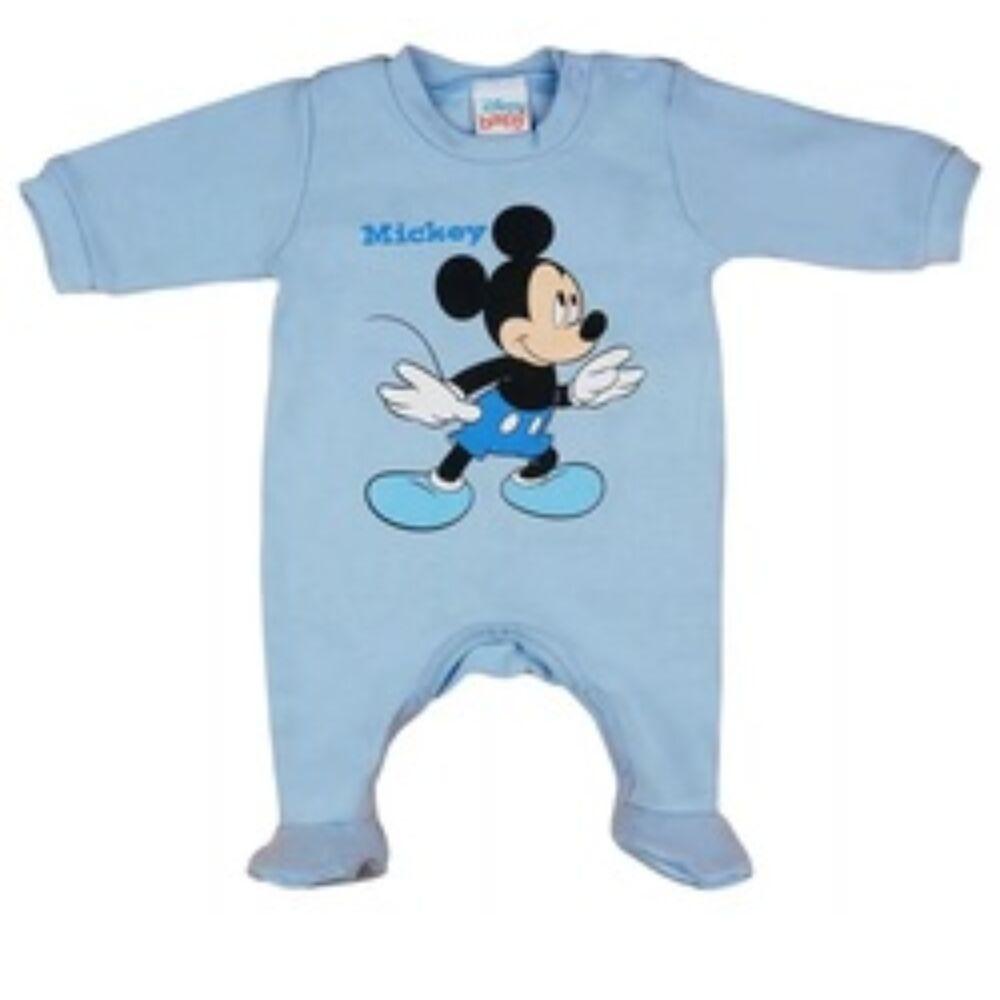 Disney Mickey vékony pamut hosszú ujjú rugdalózó kék színű.