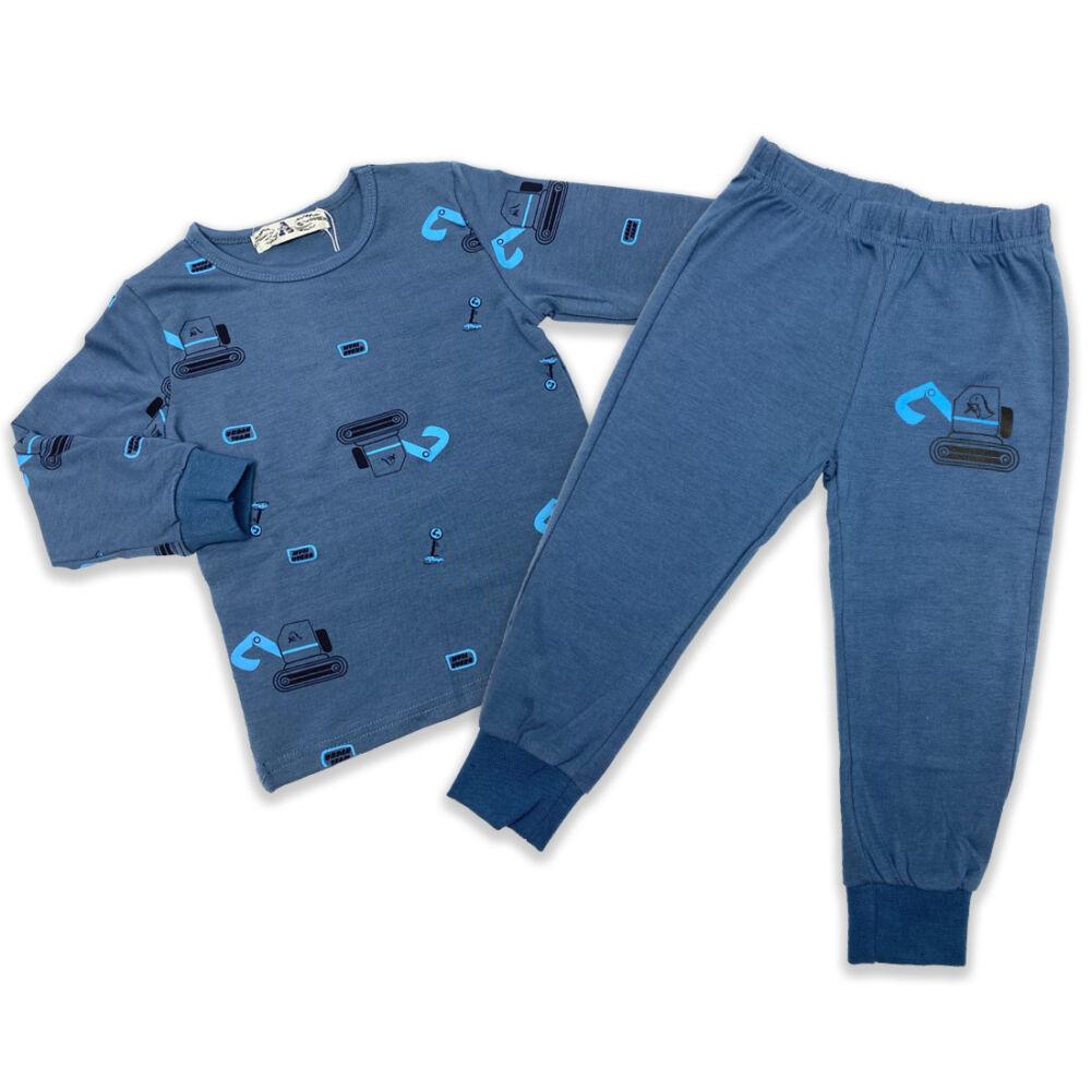 Magas pamuttartalmú kisfiú pizsama
