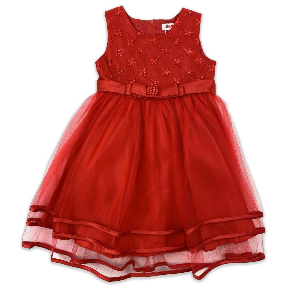 Kislány piros alkalmi ruha