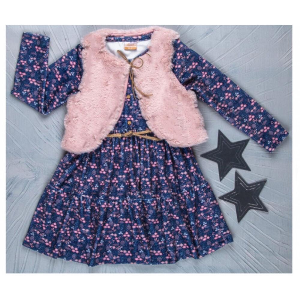 Kislány ruha mellénnyel