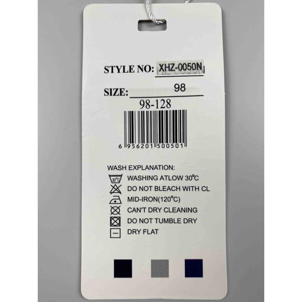 Kisfiú rövidnadrág kék színű original brand felirattal és filmnyomott autós motívummal címke