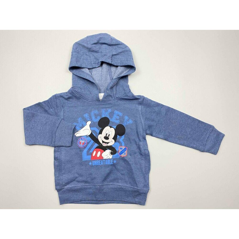 kék mickey kapucnis pulóver elején Mickey egeres filmnyomott mintával