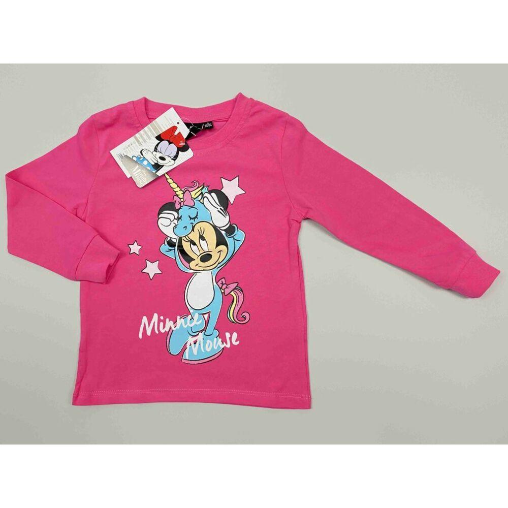 Kislány pamut barack színű felső pizsama Minnie filmnyomott motívummal