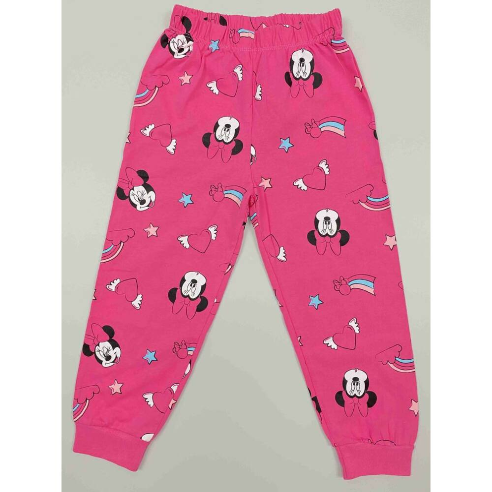 Kislány pamut rózsaszín nadrág pizsama Minnie filmnyomott motívummal