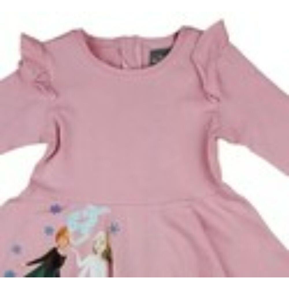 Disney Jégvarázs rózsaszín lányka ruha közeli fodor.