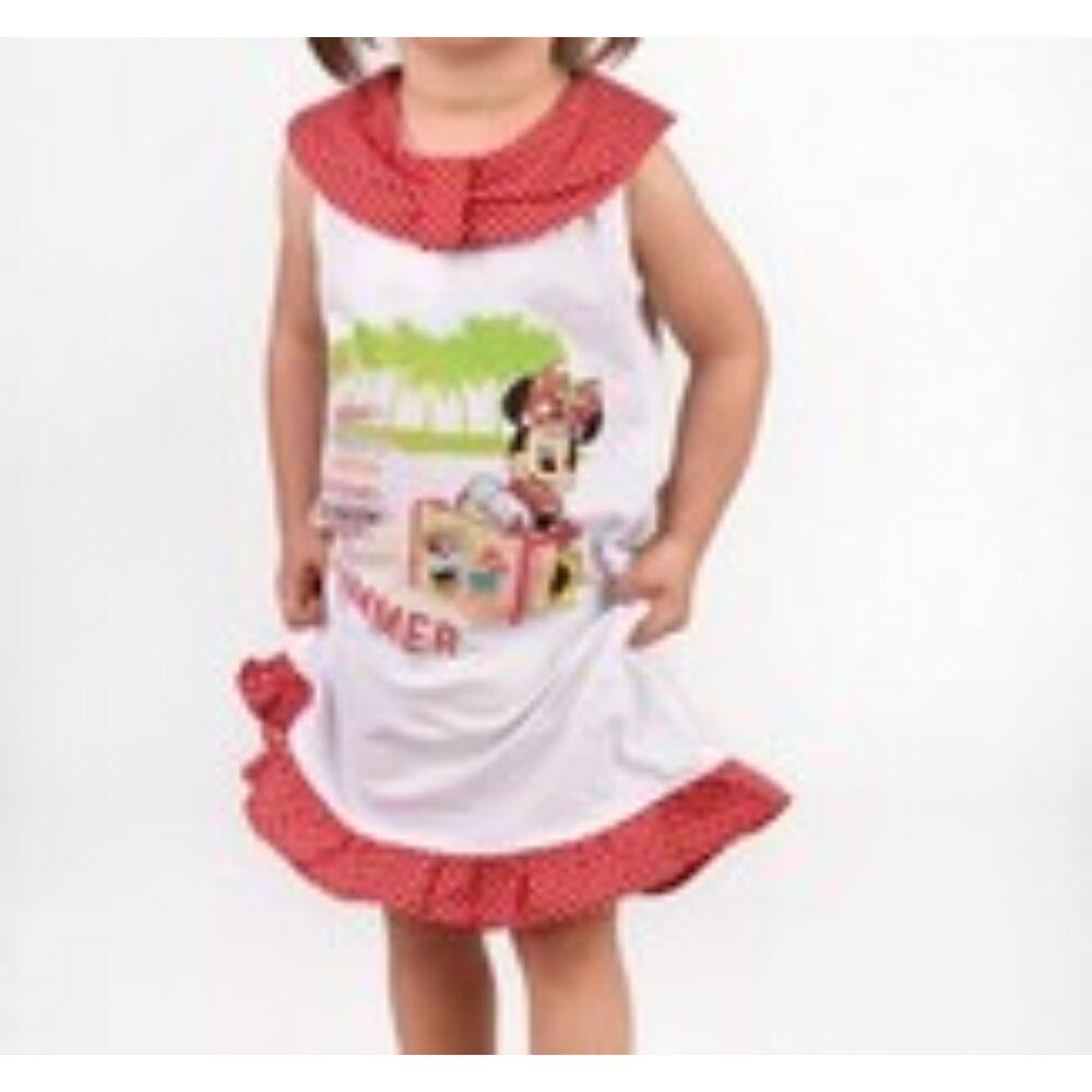 Disney Minnie egér ujjatlan lányka pöttyös ruha.