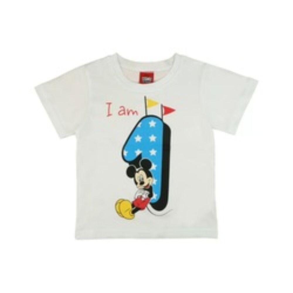 Mickey szülinapos 1 éves lettem póló fehér