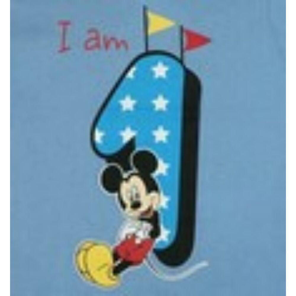Mickey szülinapos 1 éves lettem póló kék közeli