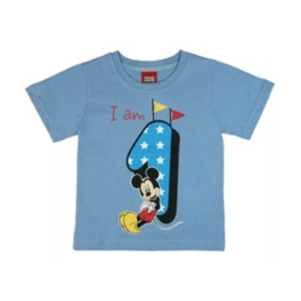 Disney Mickey egér kisfiú három éves lettem szülinapos póló kék