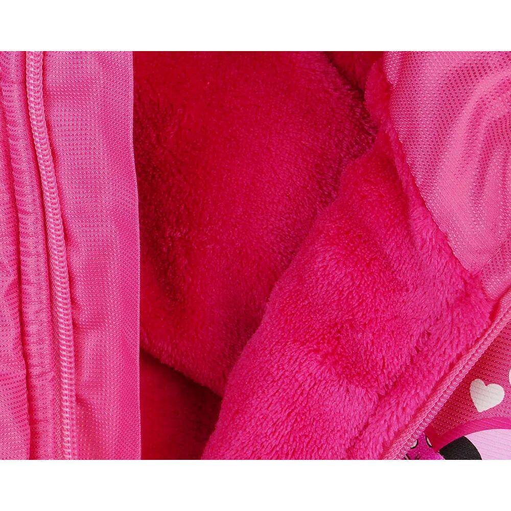Minnie egér vízlepergetős bélelt mellény rózsaszín, zsebes közeli bélés