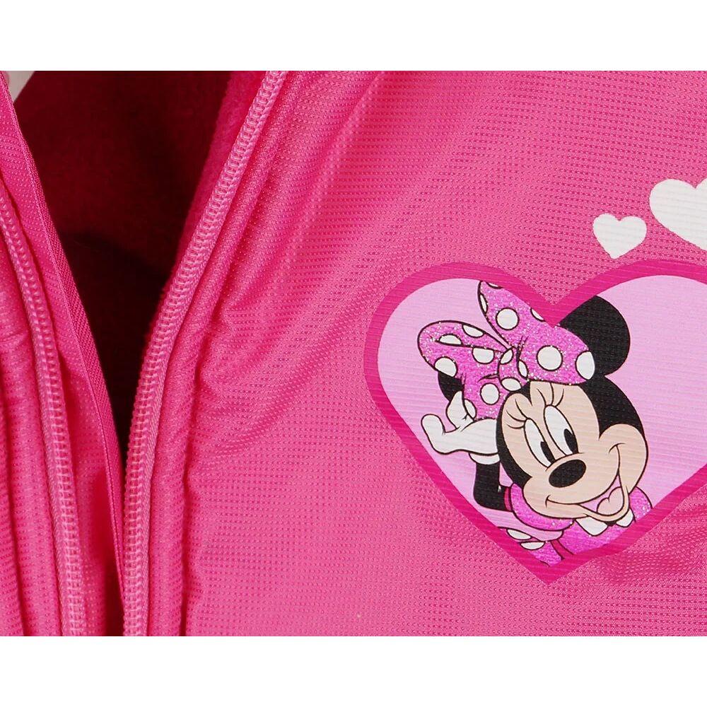 Minnie egér vízlepergetős bélelt mellény rózsaszín, zsebes közeli