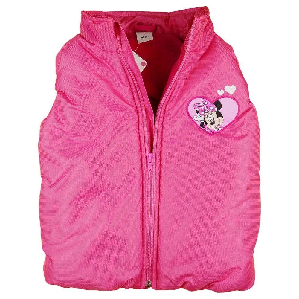 Minnie egér vízlepergetős bélelt mellény rózsaszín, zsebes