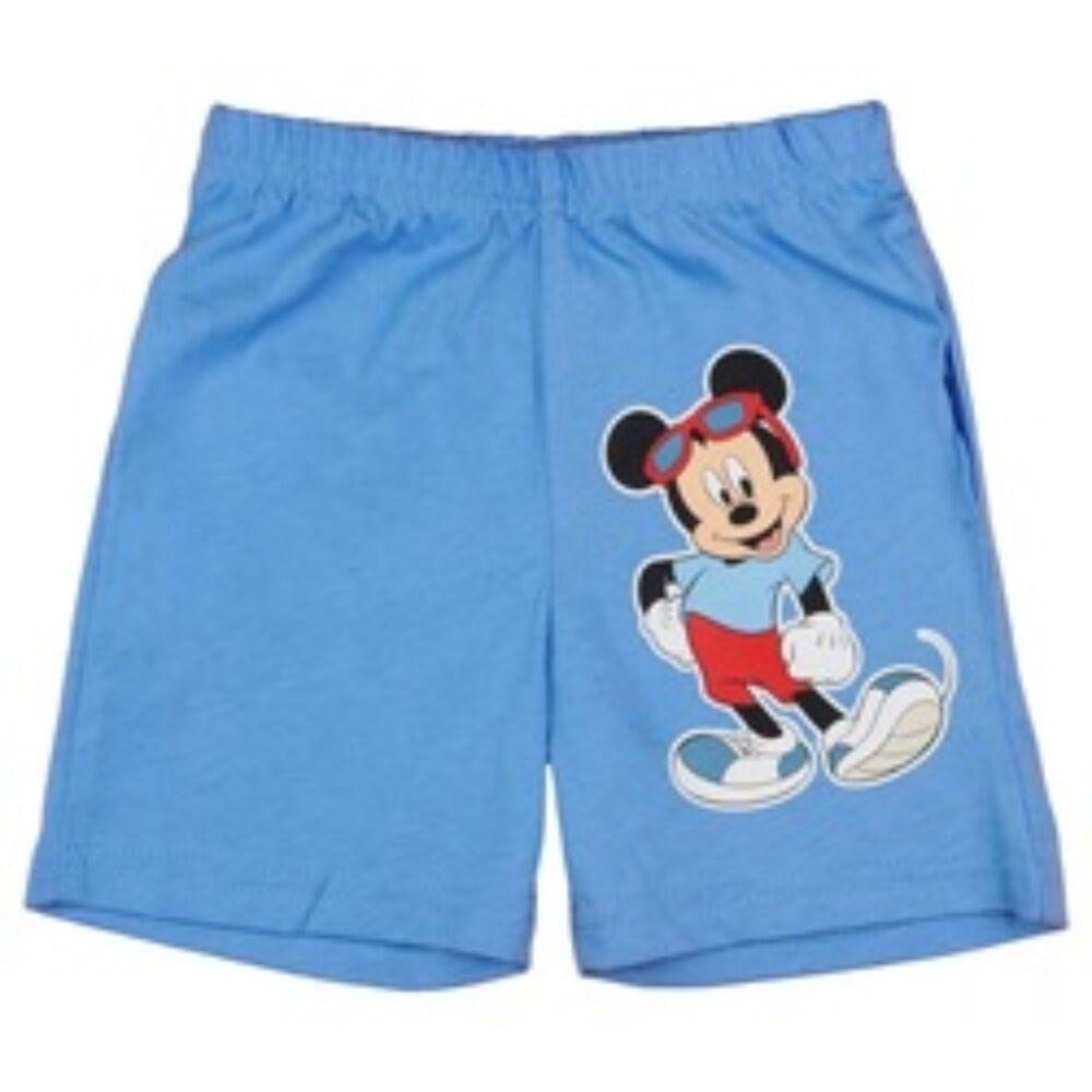 Disney kisfiú pamut rövidnadrág világoskék elején Mickey nyomott minta.