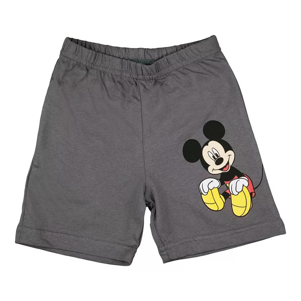 Disney kisfiú rövidnadrág szürke,elején Mickey nyomott minta