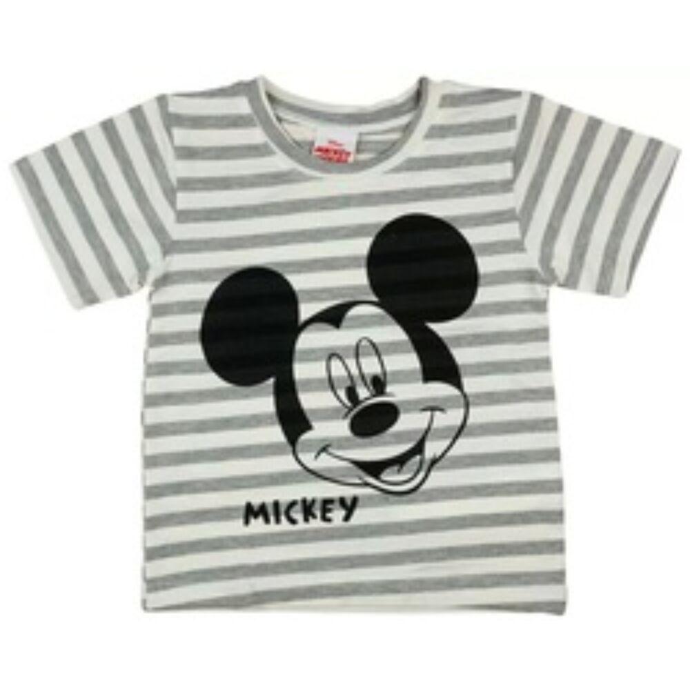Mickey mintás rövid ujjú csíkos kisfiú pamut póló