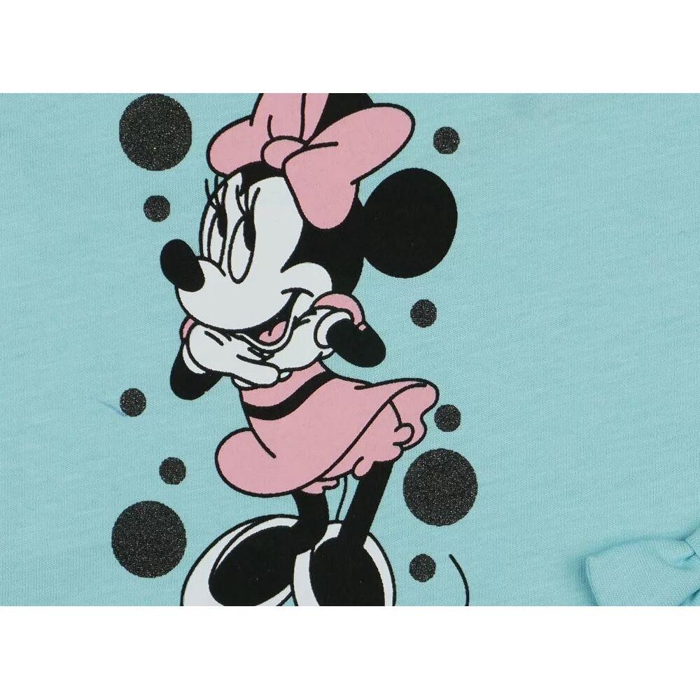 Minnie mintával nyomott, vállon és lábszárán patentos fodros napozó, minta közeli.