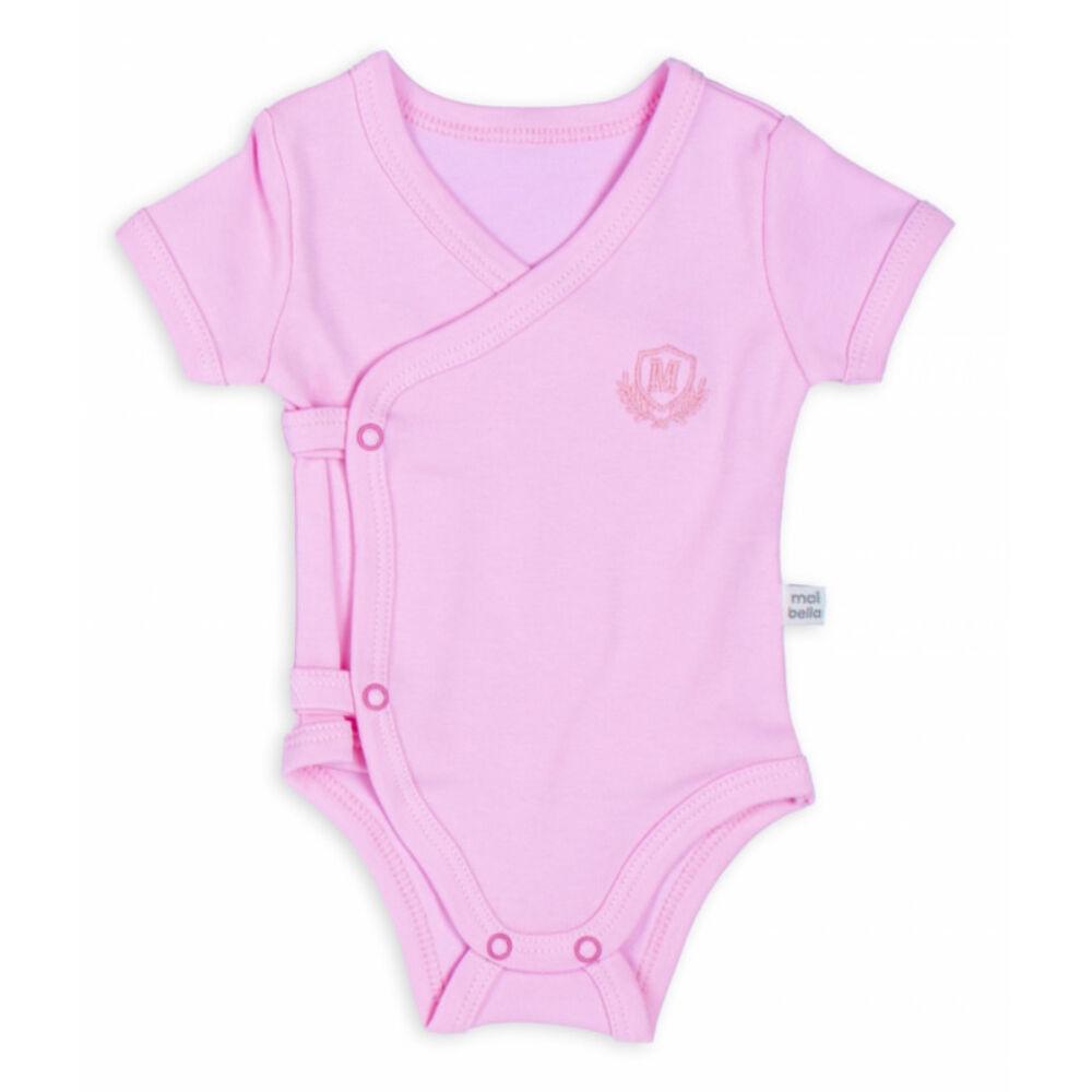 kislány rózsaszínű átlapolós body, oldalán és üllepénél patentokkal.j