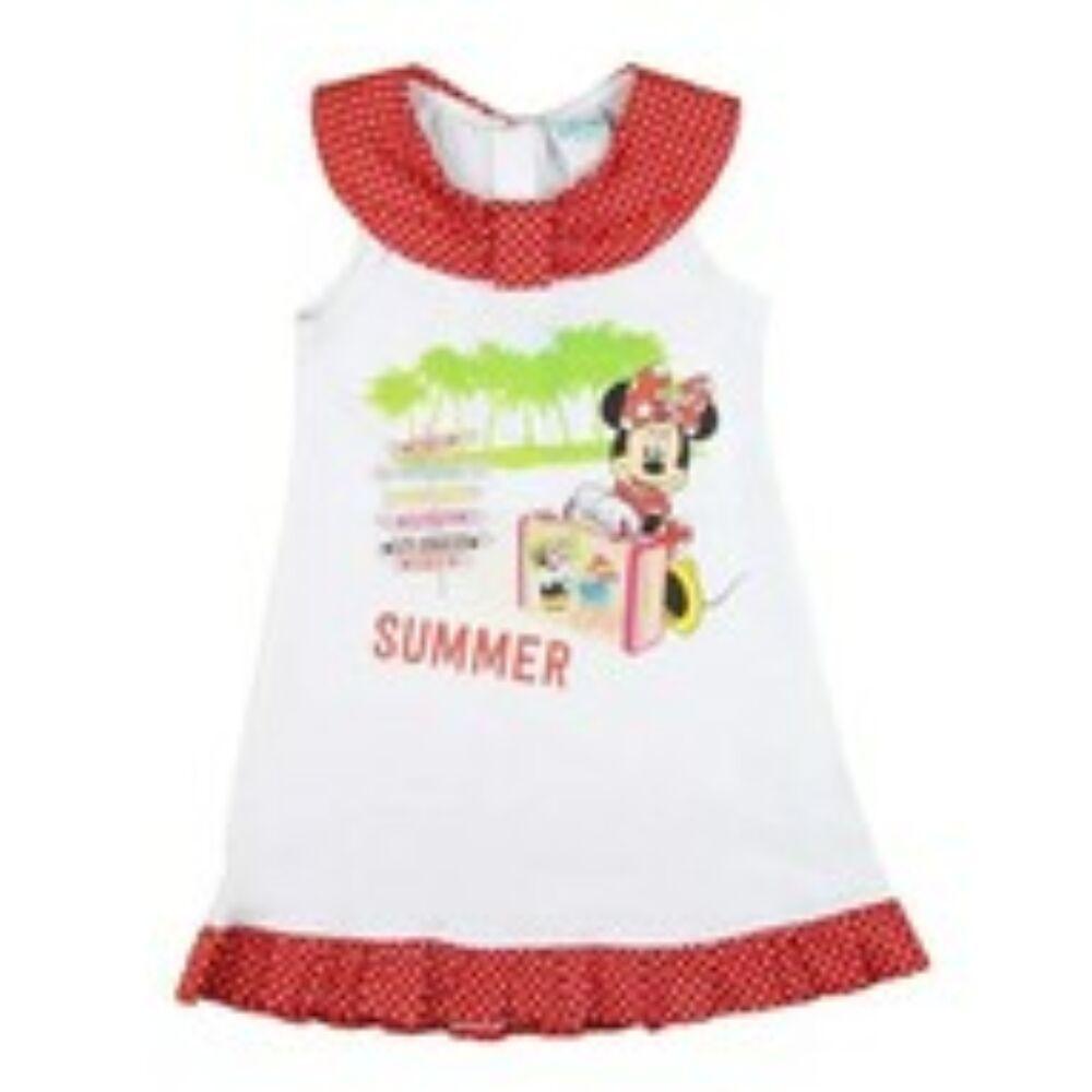 Disney Minnie egér ujjatlan lányka pöttyös ruha nyár